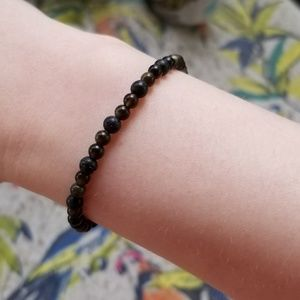 Jewelry - HAND MADE OBSIDIAN AND LAVA BRACELET